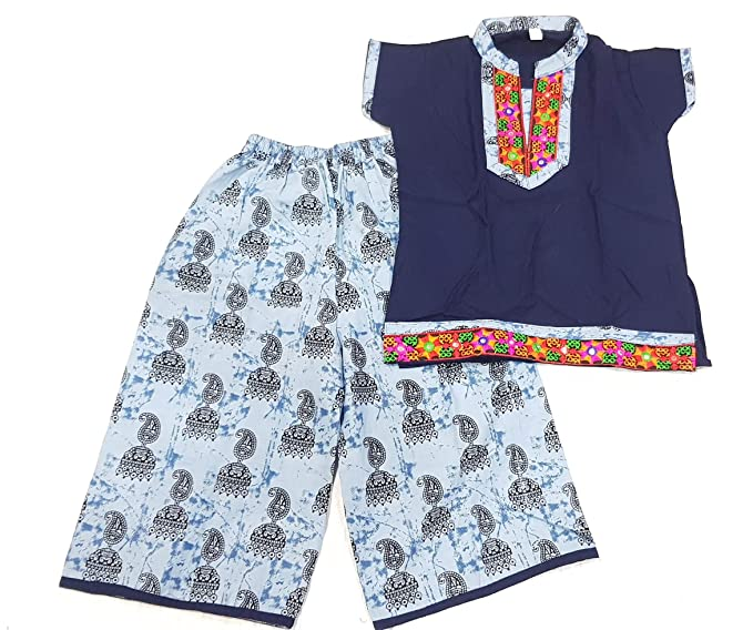 Royal Kids White Cotton Clothing Ethnic Set for Kids
