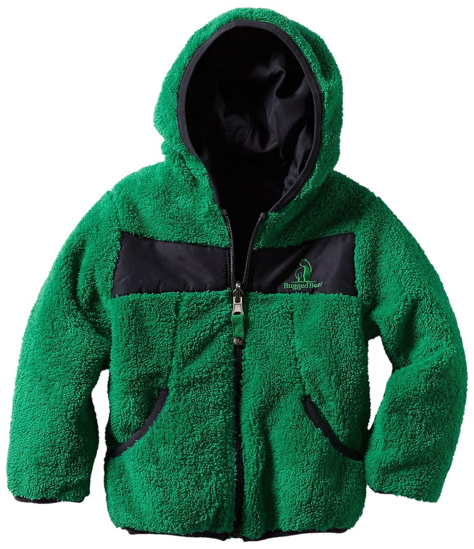 Rugged Bear Little Boys Reversible Plush Sherpa Fleece Jacket Rugged Bear Apparel 8R1491AZ