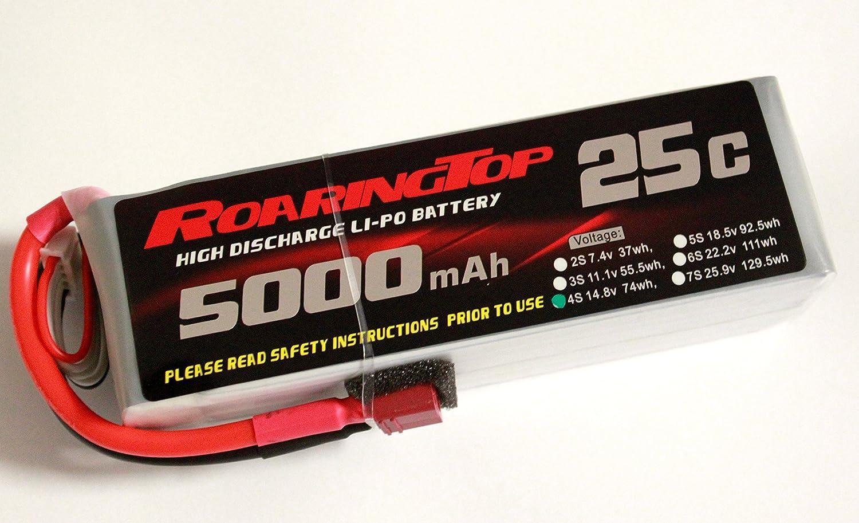 roaringtop Lipoバッテリーパック25 C 5000 mAh 4s 14.8 V with Deansプラグfor RC車ボートトラックヘリ飛行機   B01M5KTS0T