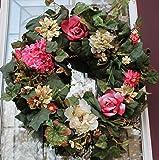 Victorian Rose Silk Outdoor Wreath