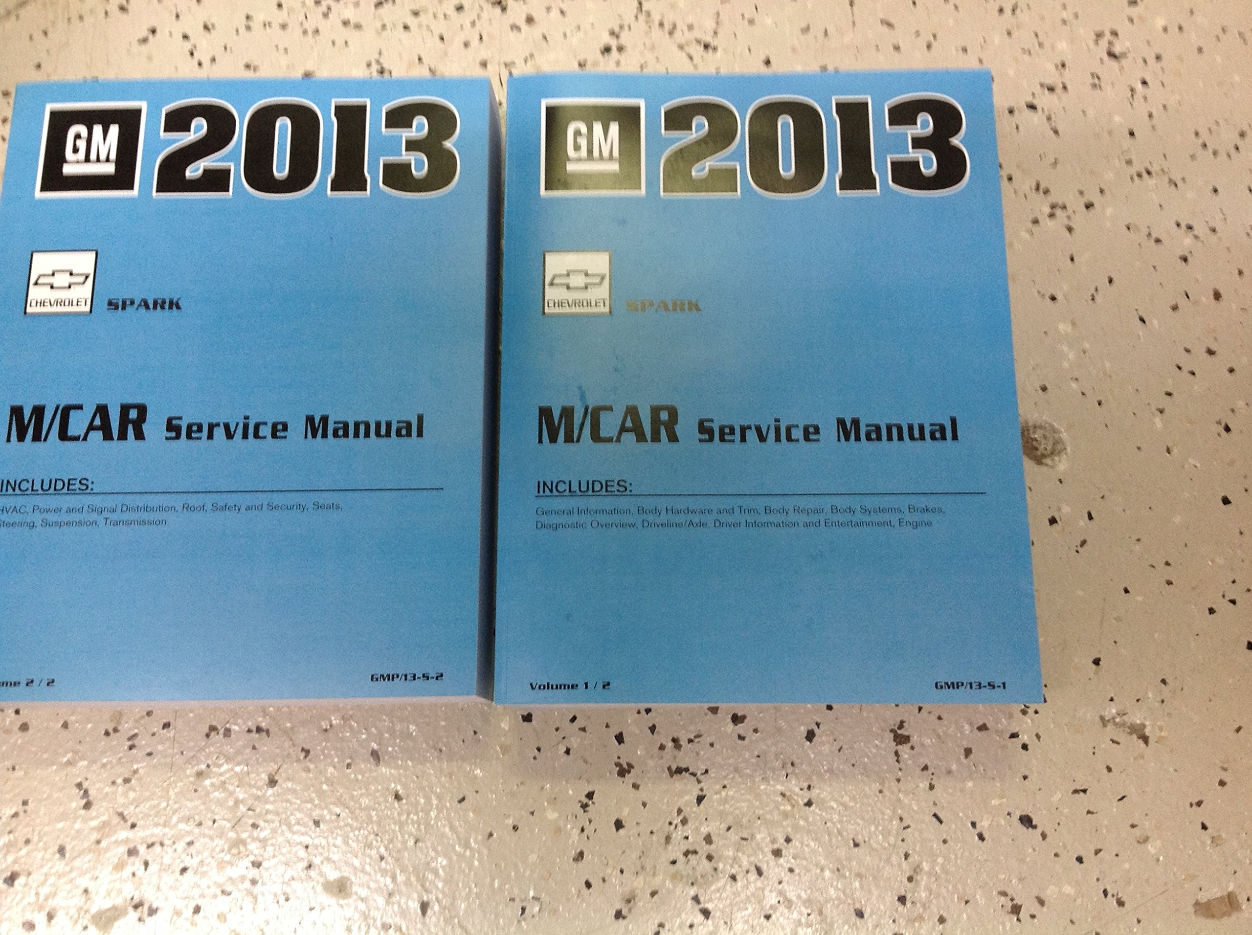 2013 chevy chevrolet spark service shop repair manual set new oem rh amazon com chevrolet spark owners manual 2013 Car Owners Manual