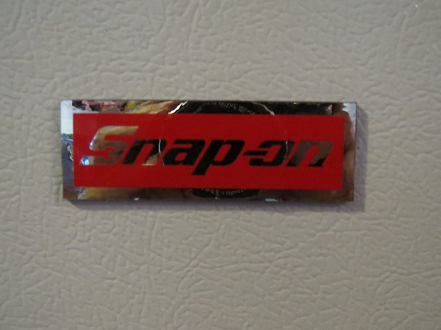 Awesome Snap On Tools 3 X 1 Logo Decal Magnet Fridge Toolbox Work Bench Red Chrome Garage Uwap Interior Chair Design Uwaporg