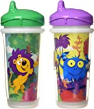 Playtex Sipsters Stage 3 Spill-Proof, Leak-Proof, Break-Proof Insulated Spout Sippy Cups - 9 Ounce - 2 Pack (Color and Design May Vary)