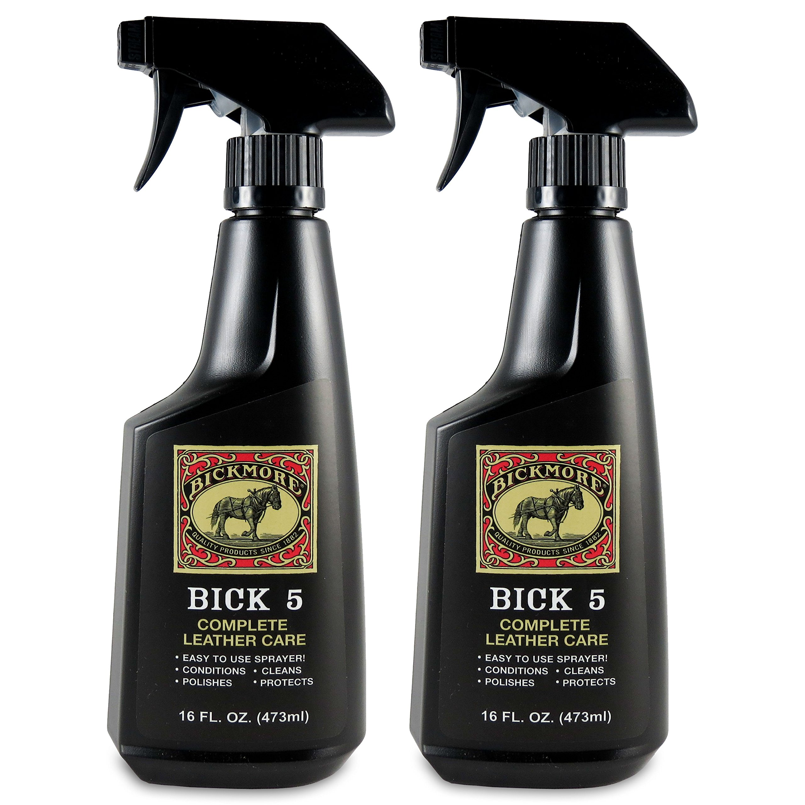 Bickmore Bick 5 Leather Cleaner & Conditioner 16oz Spray (2-Pack) Complete Leather Care