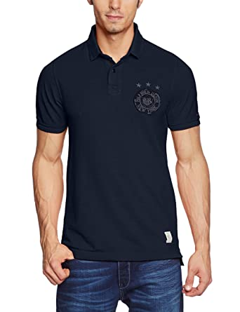 da9d7268923 Hilfiger Denim Men s Logo Polo Short sleevePolo Shirt Blue Bleu (Black  Iris)  Amazon.co.uk  Clothing