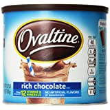 Nestle Ovaltine Rich Chocolate Mix, 18-Ounce Canister (Pack of 3)