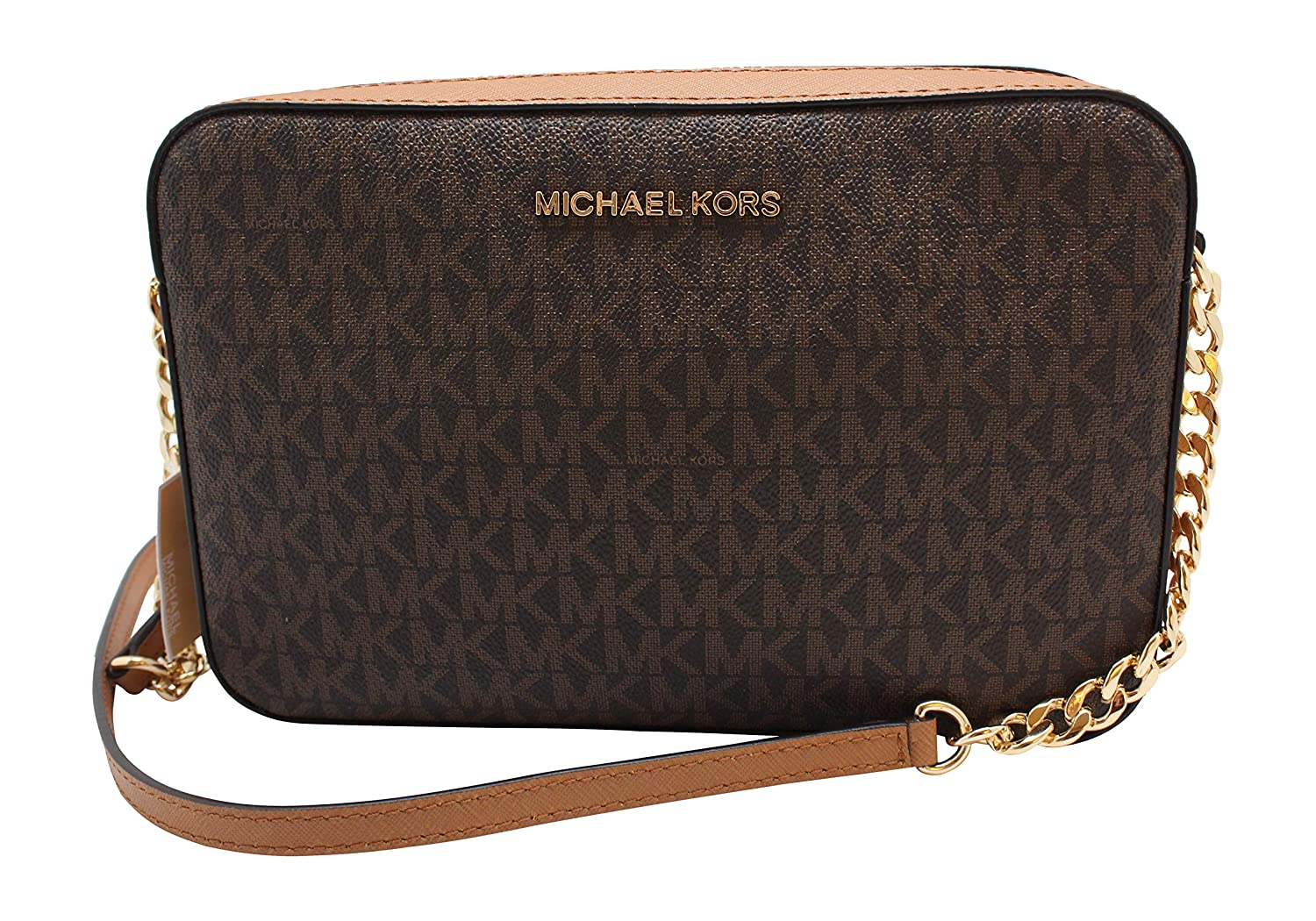 Michael Kors Jet Set Large East West Crossbody Bag Black MK Signature   Handbags  Amazon.com e00264304a38d