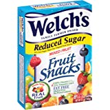 Welchs Reduced Sugar Mixed Fruit Snacks 8 Pouches (2 Pack - 16 Pouches Total)