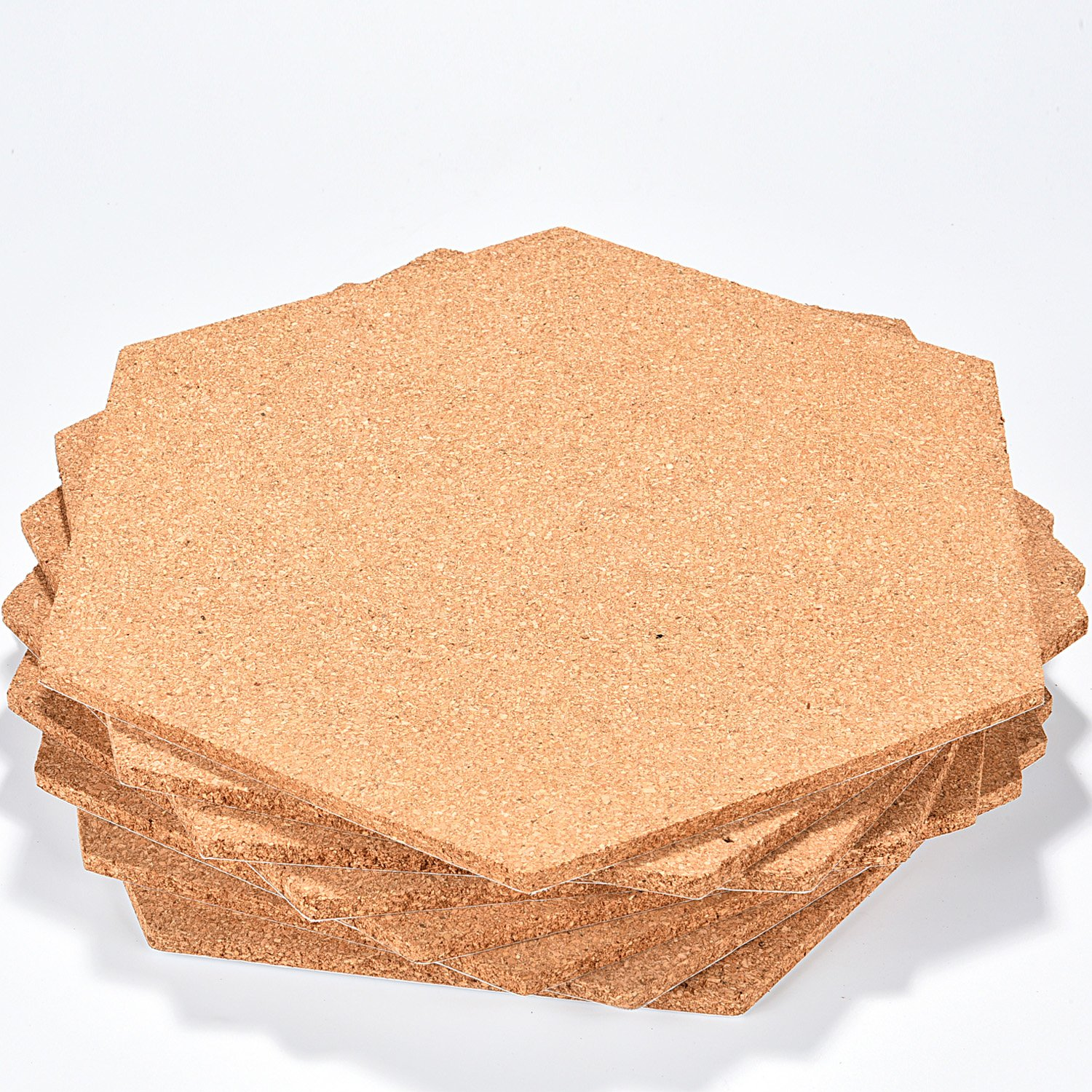 Amazoncom Maxdot 8 Pack Hexagon Shape Cork Board Adhesive Bulletin