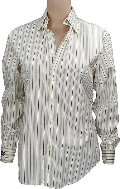 Polo Ralph Lauren - Camisas - Rayas - Manga larga - para mujer bianco / nero 42: Amazon.es: Ropa y accesorios