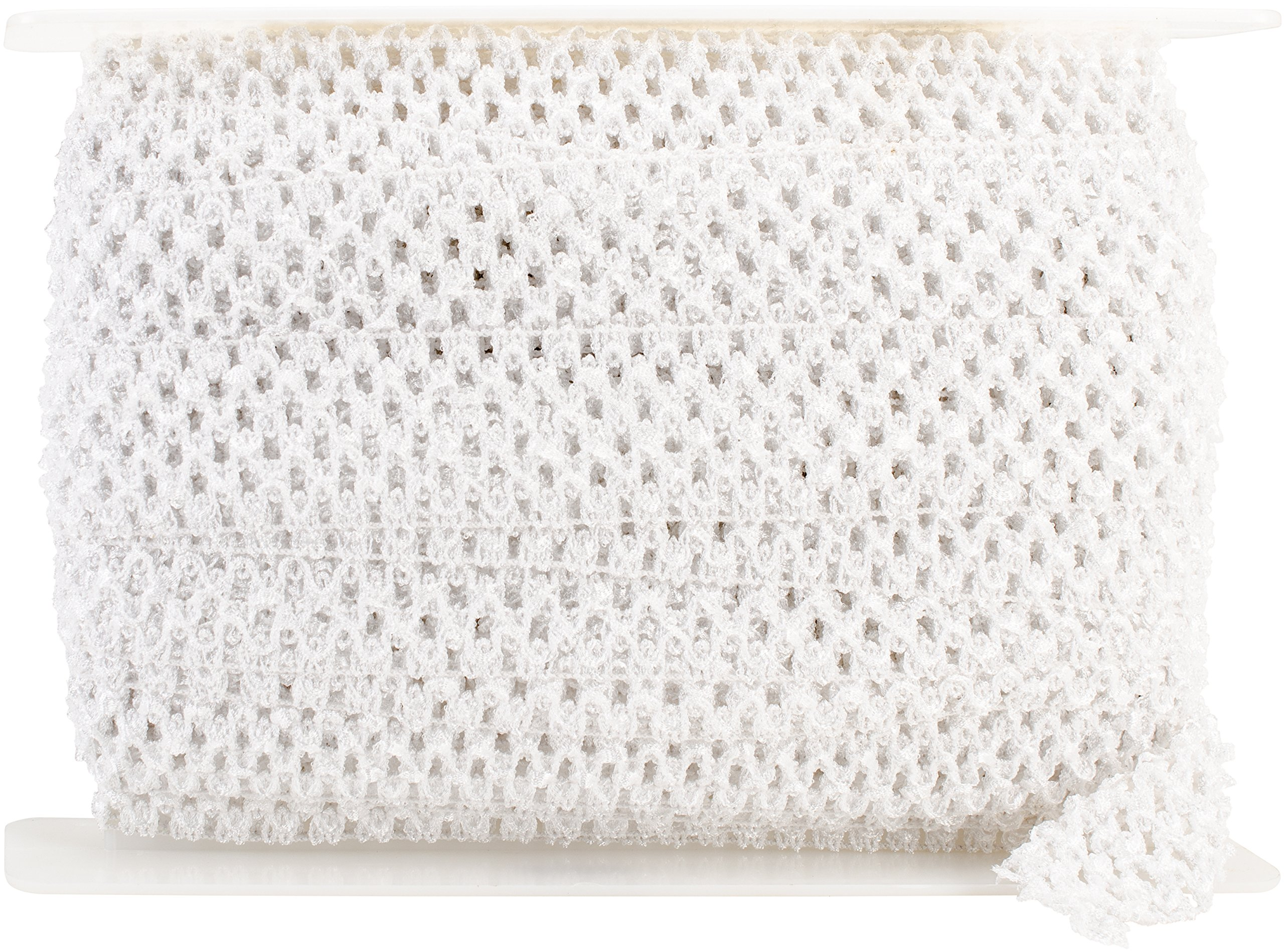 Expo IR7005-WH 20-Yard Crochet Headband Stretch Trim, 1-3/4-Inch, White by Expo