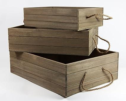 Cajas escaparate o almacenaje madera volante madera. Ideal para regalos,cesto navidad