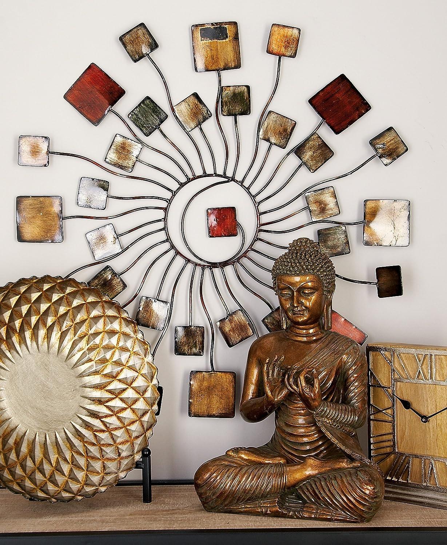 Design//D/écoration Moderne Porcelaine Hauteur 16 cm Brubaker Sculpture d/écorative Chrom/é//Blanc
