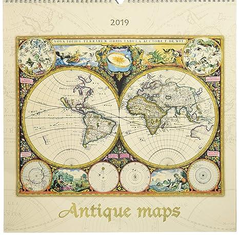 Calendario Antico.Calendario Da Muro Mappe Antiche 2019 42x42 Cm Amazon It