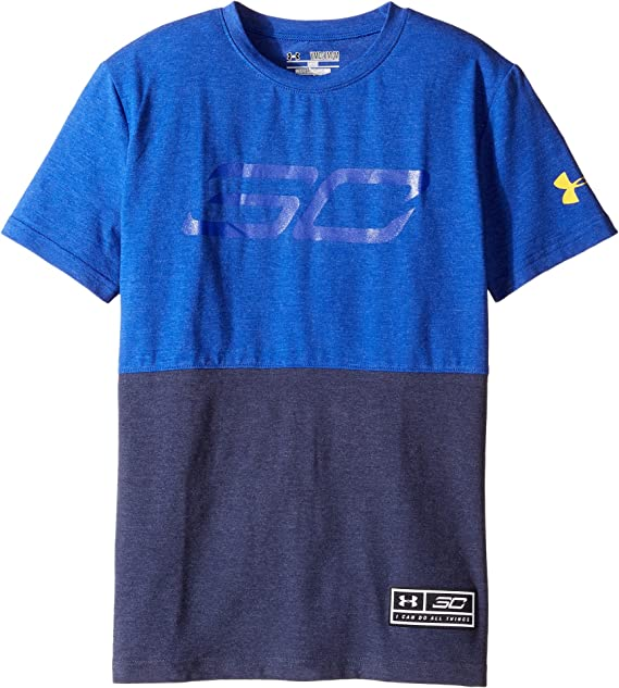 56730d519 Amazon.com: Under Armour Kids Mens Steph Curry 30 Long Tee (Big Kids):  Clothing