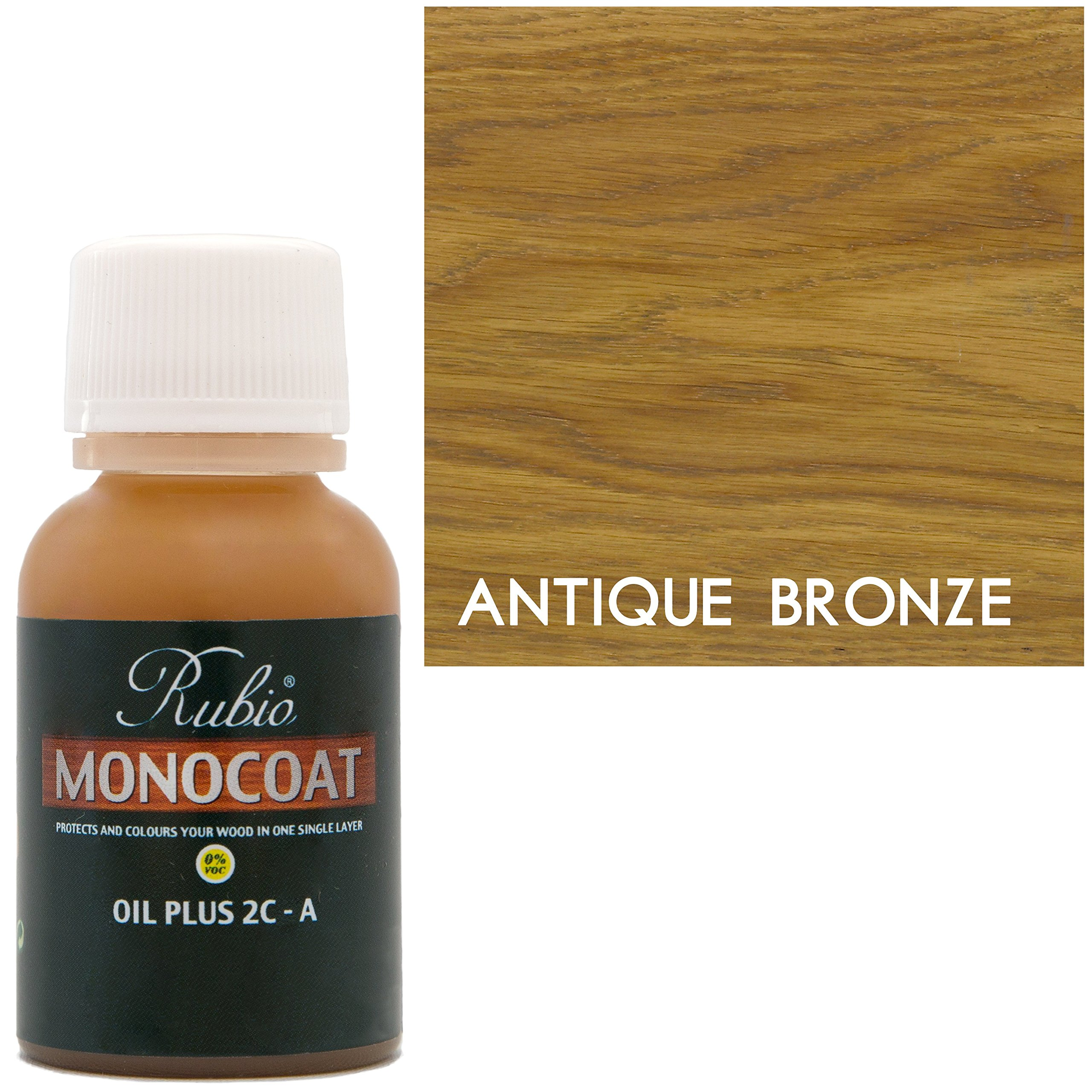 Rubio Monocoat Oil Plus 2C-A Sample Wood Stain Antique Bronze 20ml