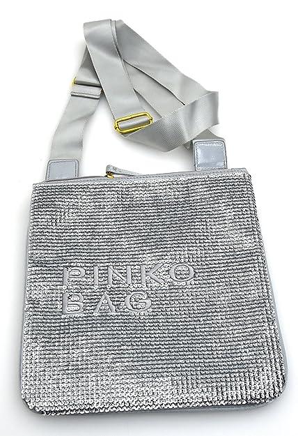f9836c6929eb8 PINKO WOMAN SHOULDER BAGS VARIOUS COLOR CODE CANCRO 12D0EU ZC02 UNICA - ONE  SIZE PIOGGERELLA - FOG  Amazon.co.uk  Shoes   Bags