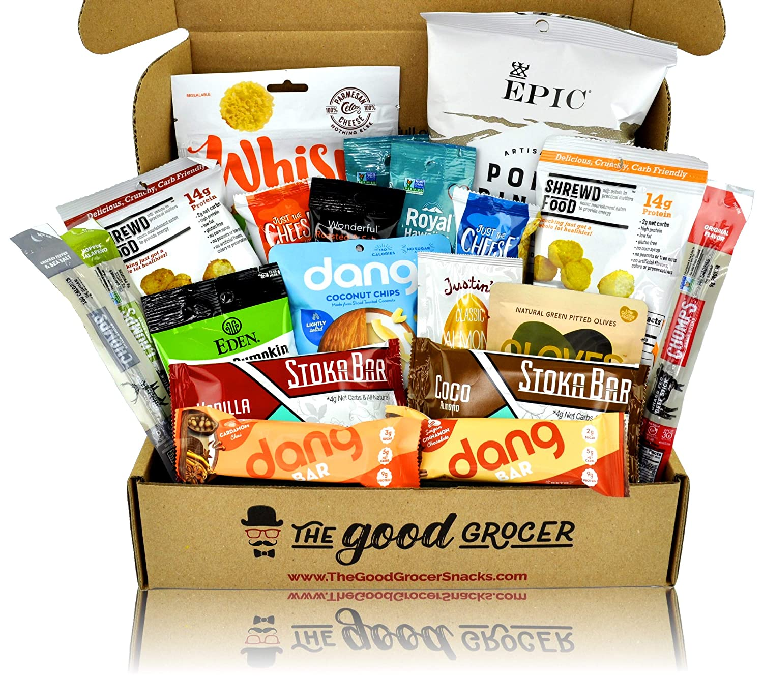 92f58eb8afc KETO Friendly Snacks Gift Care Package (20ct): Ultra Low Carb, High Fat,  Ketogenic, Gluten Free,...
