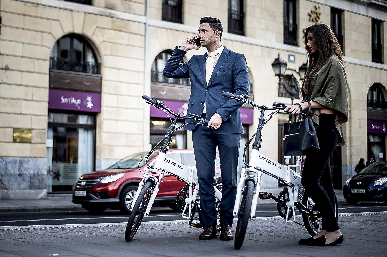 Littium By Kaos Ibiza LCD Bicicleta Eléctrica Plegable, Unisex Adulto