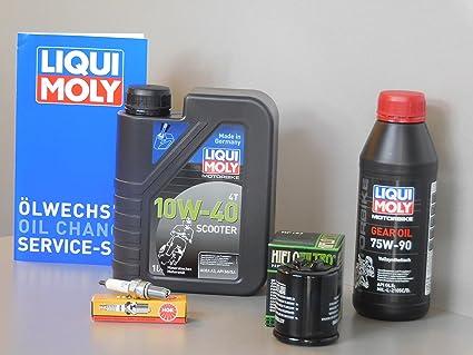 Mantenimiento Set Derbi GP1 125 Aceite de aceite Bujía Inspección Service ölwechsel: Amazon.es: Coche y moto