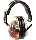 Baby Banz Earmuffs Kids Hearing Protection - Ages 2+ Years - THE BEST EARMUFFS FOR KIDS - Industry Leading Noise Reduction Rating - Soft & Comfortable - Kids Ear Protection, Geo Print