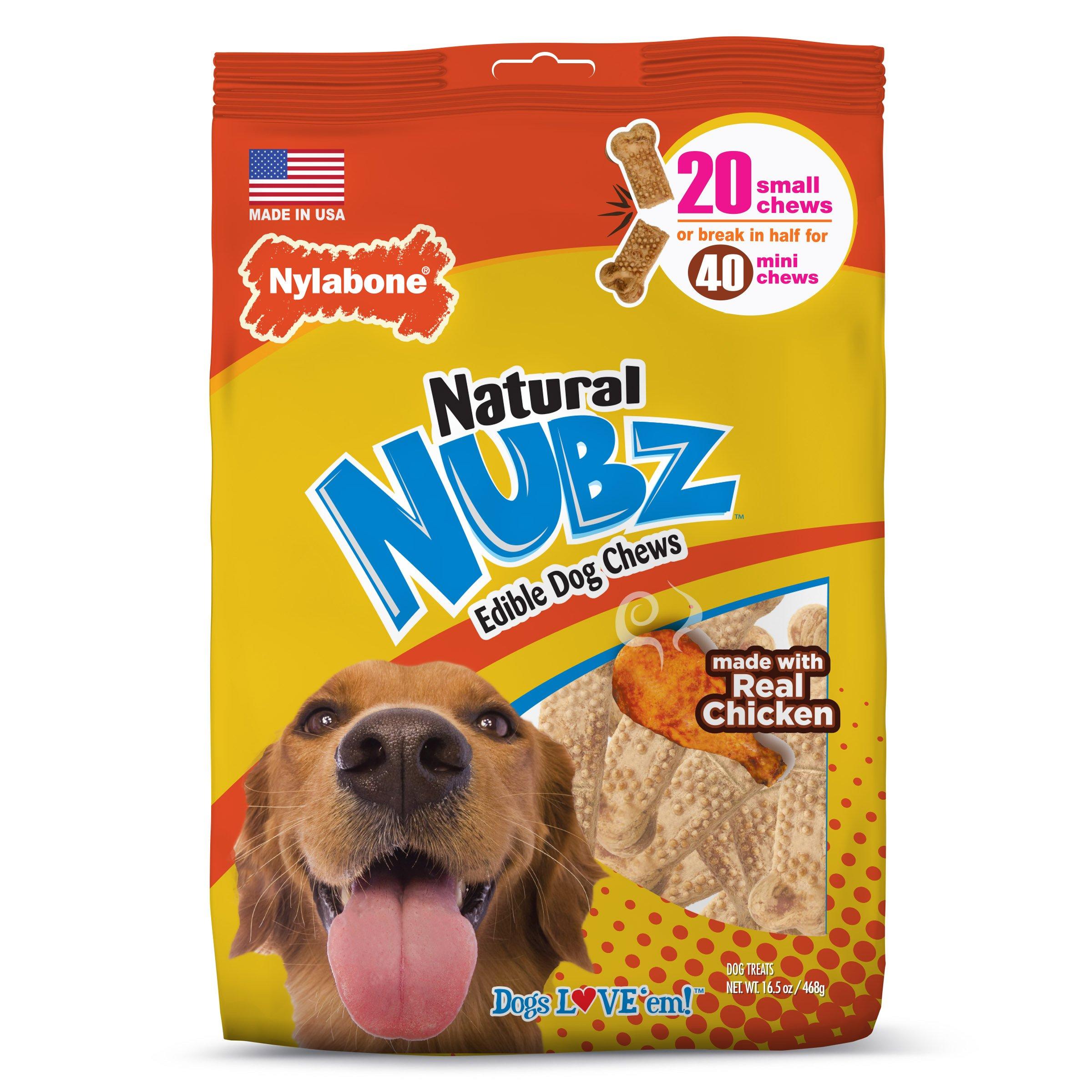 Nylabone Nubz Natural Eddible Dog Chew Treats