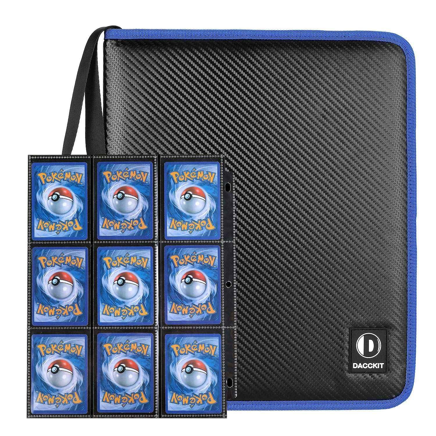D DACCKIT Carrying Case Compatible with Pokemon Trading Cards, Cards Collectors Album with 30 Premium 9-Pocket Pages, Holds Up to 540 Cards by D DACCKIT (Image #2)