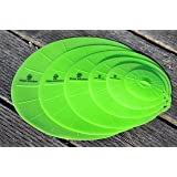 Elate Kitchen BPA Free Food Grade Silicone Reusable Suction Lids Bonus Pack of 6 - top quality for cookware, tupperware, or any sizes of food containers as lids while cooking or keep food stored fresh