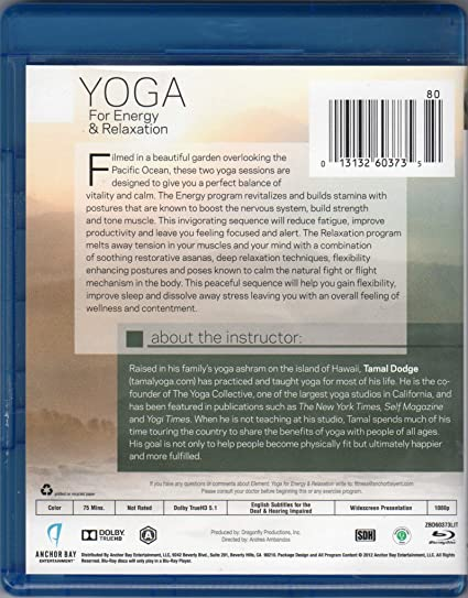 Element  Yoga for Energy   Relaxation  Blu-ray   Amazon.fr  DVD   Blu-ray 7dcfc8f4891