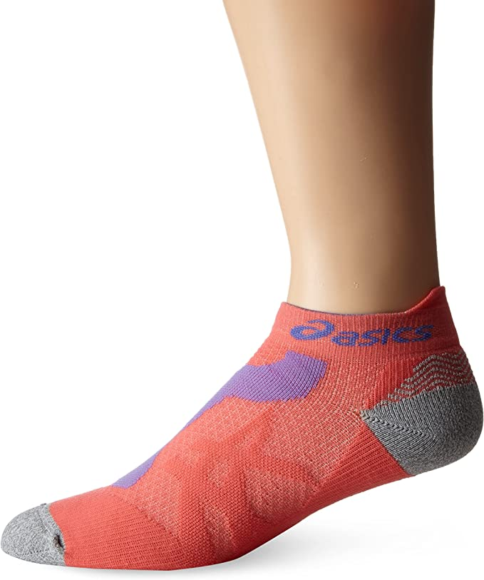 ASICS Resolution Low Cut Sock, X-Small, Coralicious