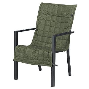 "Classic Accessories Montlake FadeSafe Patio Chair Slip Cover, 45"" x 20"", Heather Fern"