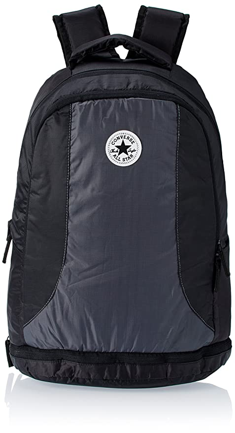 f21cc0b5b157 Converse Hipster Laptop Bag Black and Grey Casual Backpack (CBGSGS004)   Amazon.in  Bags