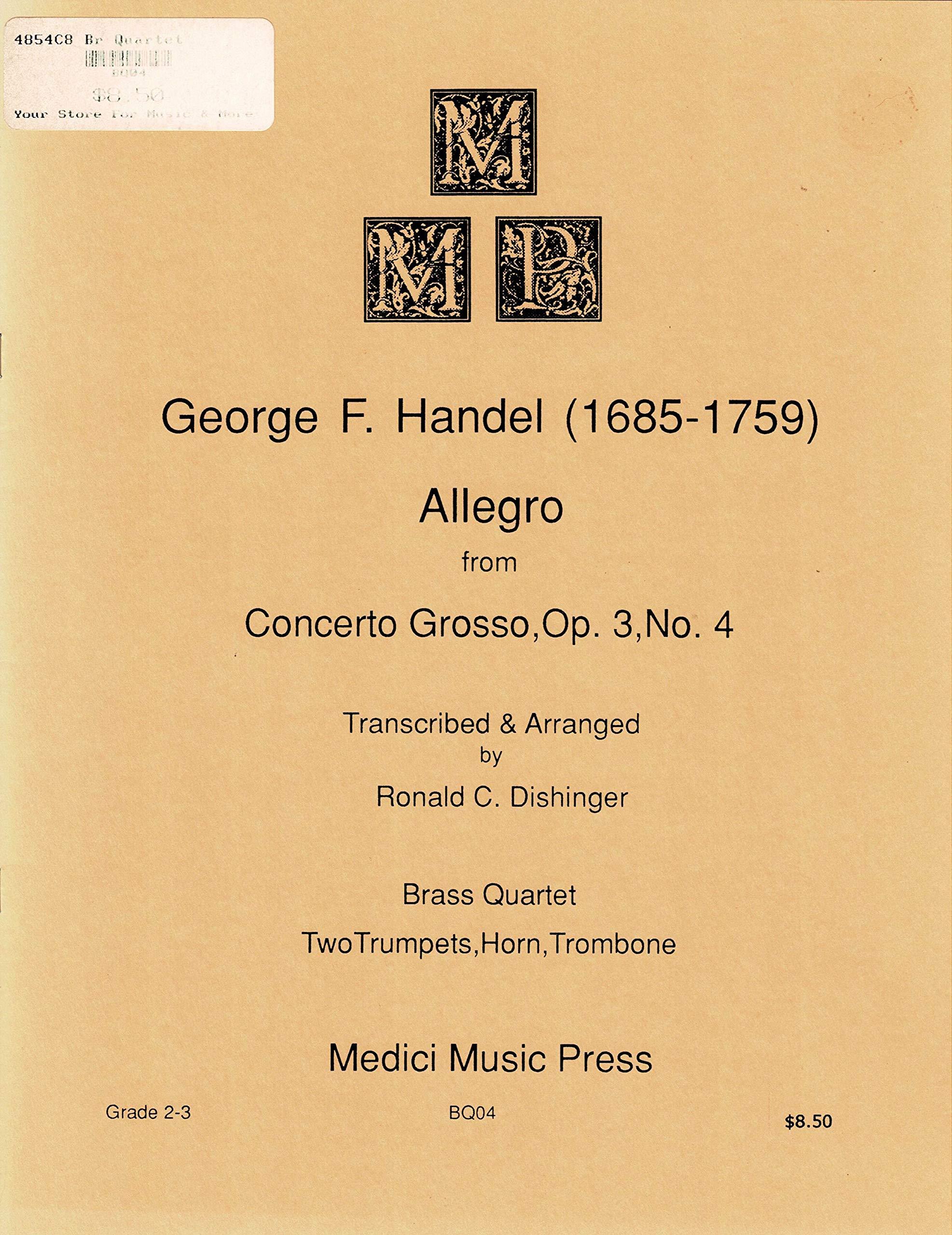 Amazon com: GEORGE F  HANDEL: Allegro from Concerto Grosso
