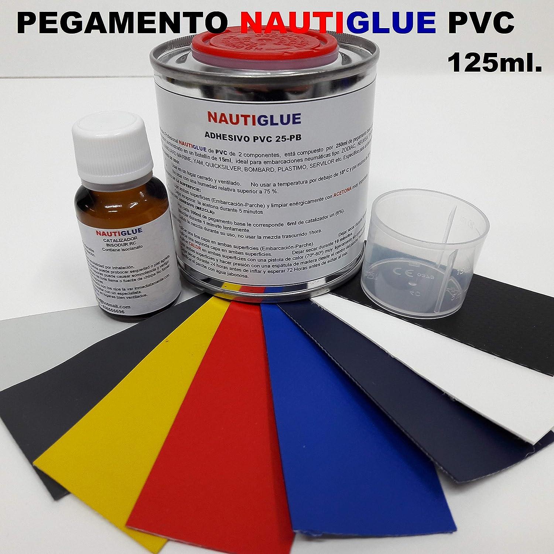 NAUTIGLUE Pegamento de PVC Profesional de 125 mililitros para la reparación de Zodiac (Elegir Color del Parche de Regalo)