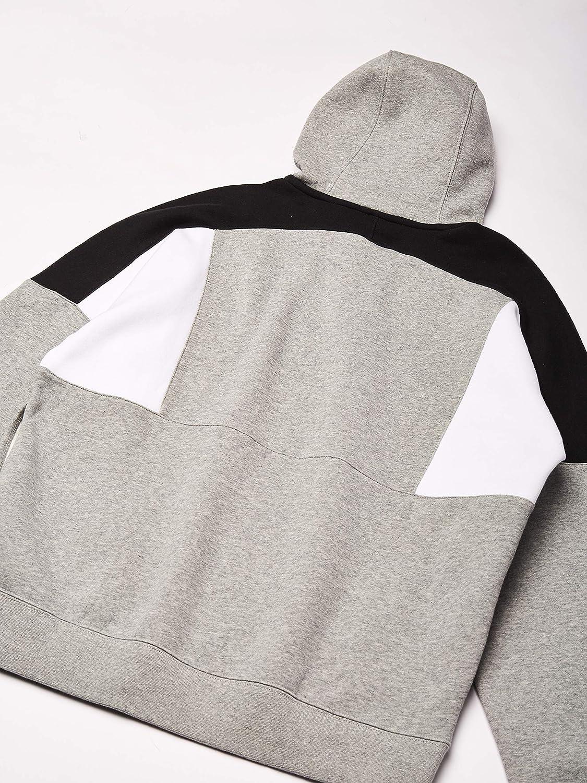 Nike Herren M NSW Hoodie Po Bb Cb Sweatshirt Dk Grey Heather/White/Black/(White)