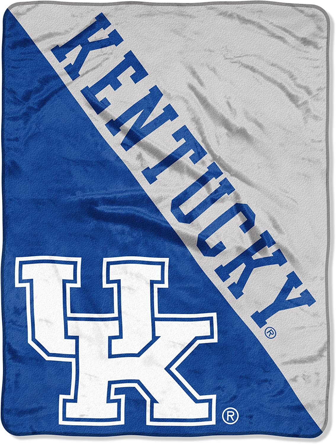 "Officially Licensed NCAA ""Halftone"" Micro Raschel Throw Blanket, 46"" x 60"", Multi Color"