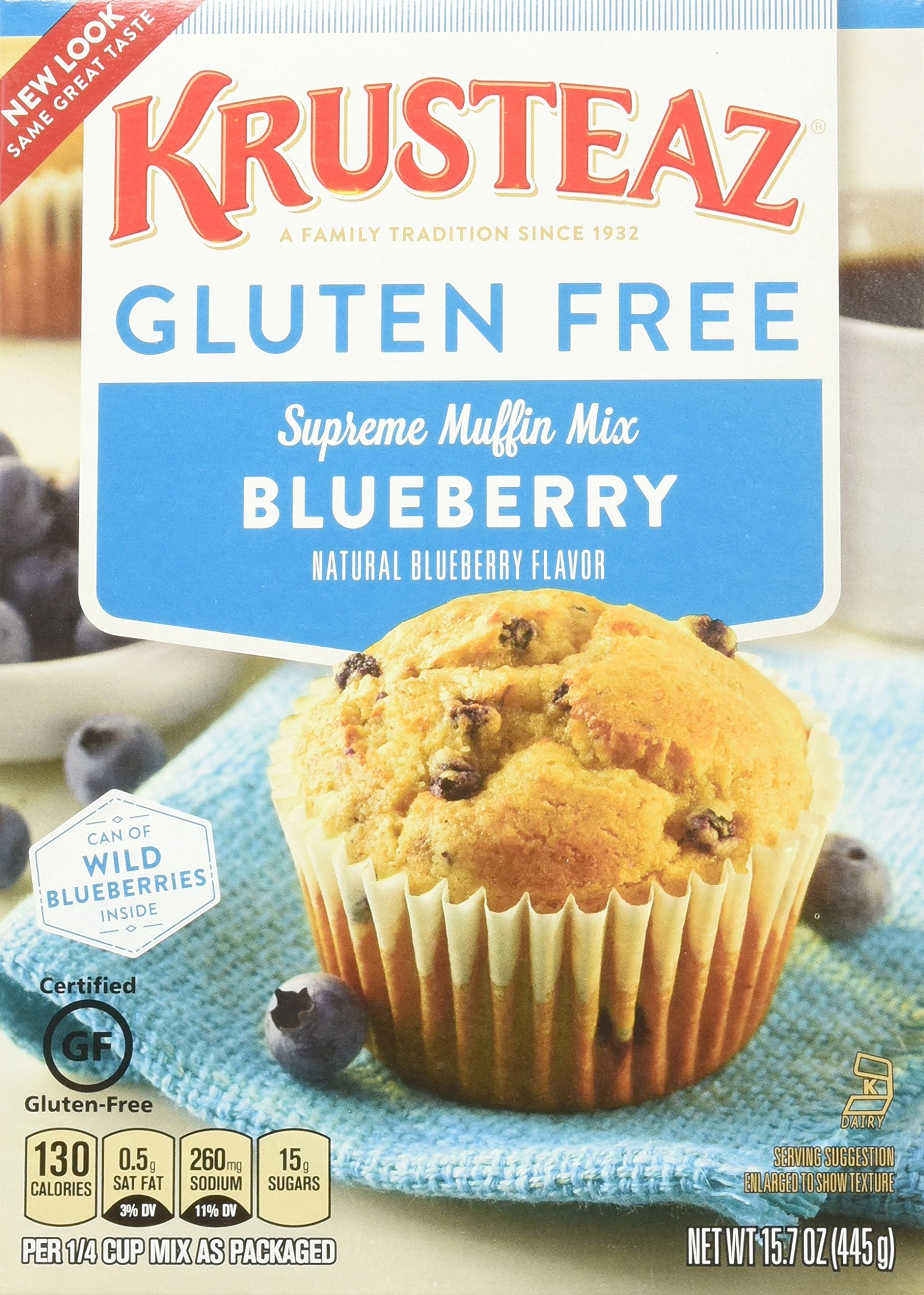 Krusteaz Wild Blueberry Supreme Muffin Mix, 17.1 Oz. Box (4 Pack)