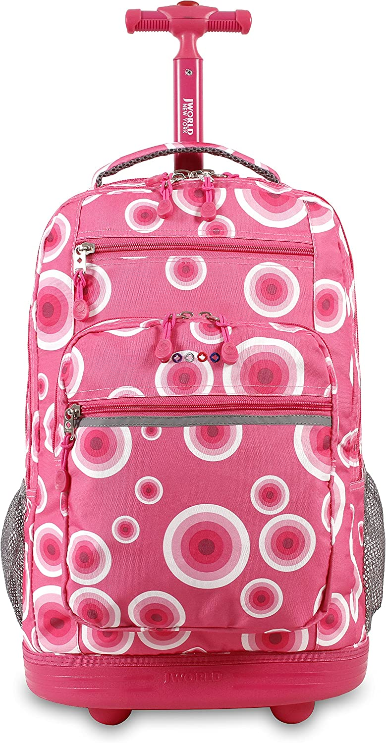 J World New York Rolling Backpack Laptop Bag with Wheels