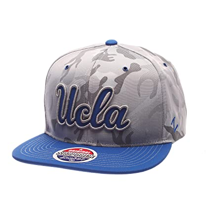quality design fe570 b5b91 Amazon.com   Zephyr NCAA UCLA Bruins Adult Men s Brigade Snapback Hat,  Adjustable Size, Gray Camo Team Color   Sports   Outdoors