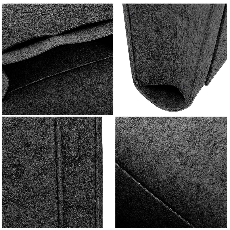 Gray Magazine Phone Tablet Tissue Holder Desk MoKo Bedside Caddy Soft Felt Bed Hanging Storage//Organizer with Pockets Sofa Living Room Dorm Room Convenient Open Bag for Bedroom