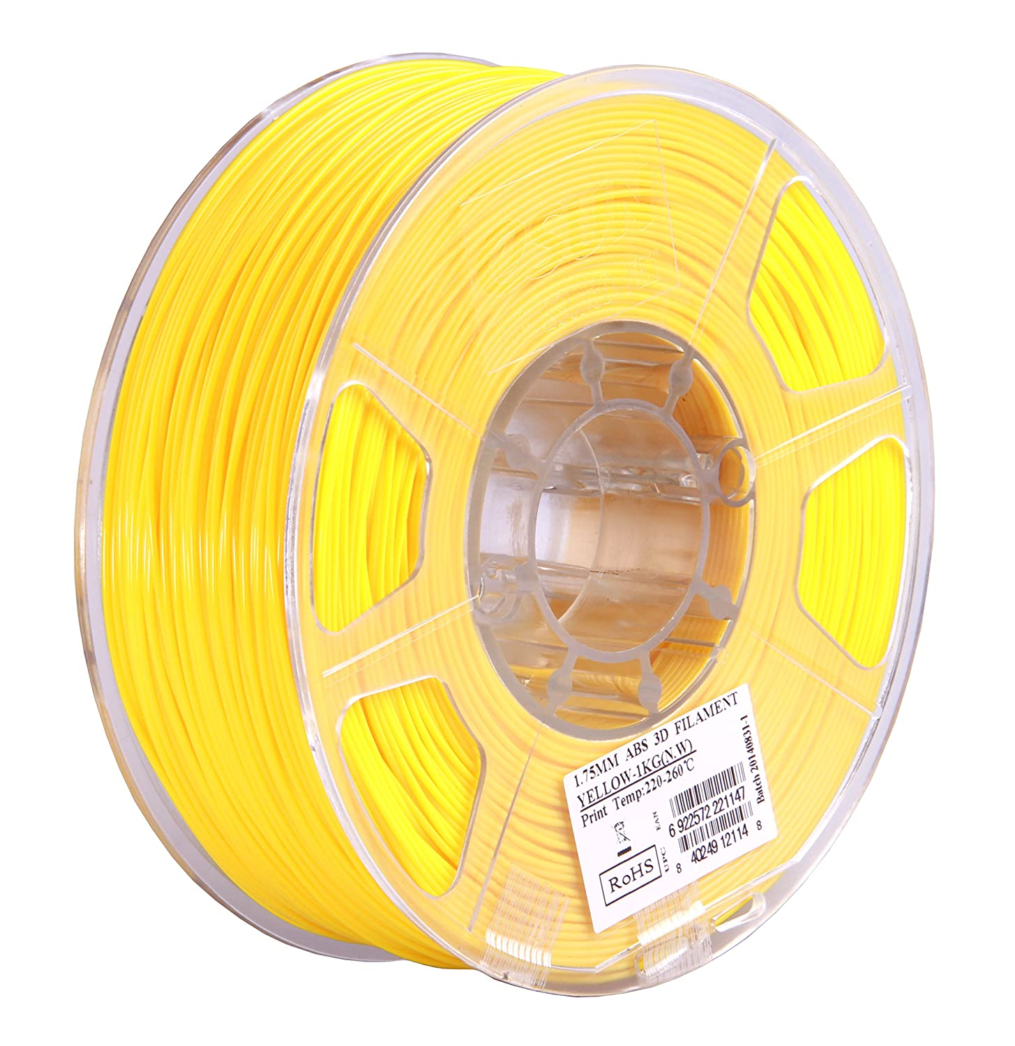 yellow 220-260 Grad C ABS 1kg / 1.75mm Universal für 3D Drucker z.B eSun 3D Filament Druck Tempe MakerBot RepRap MakerGear Ultimaker Mendel Huxlep UP Thing-o-matic Gelb