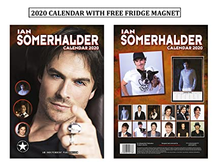 Ian Somerhalder Calendario 2020 + Ian Somerhalder imán para nevera ...