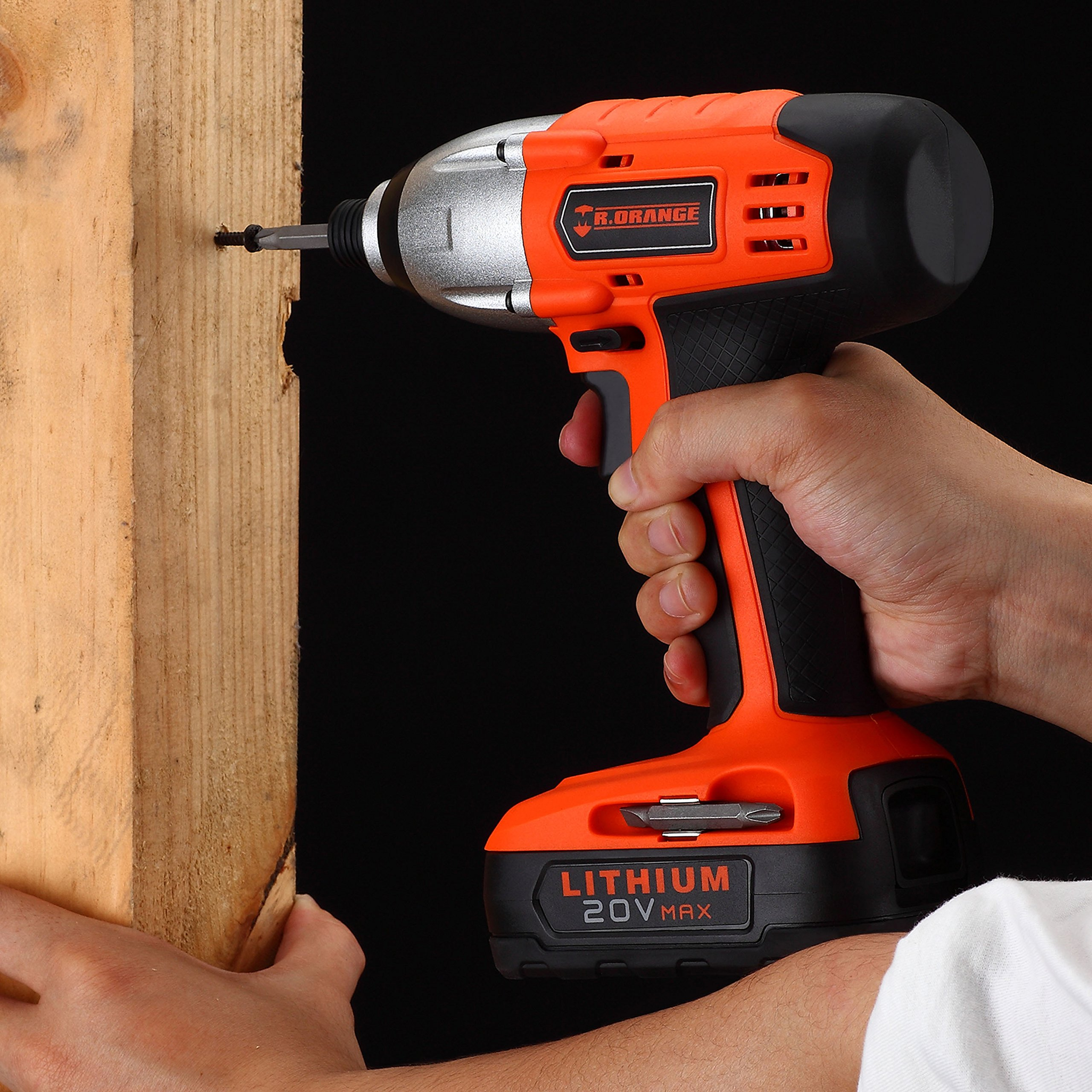 Mr.Orange 1/4 Inch 20V Lithium-Ion Cordless Impact Driver Kit with Quick Charger and Battery Includes Durable Gloves 2 pcs socket driver bits and Soft Tool Bag by Mr.Orange (Image #6)