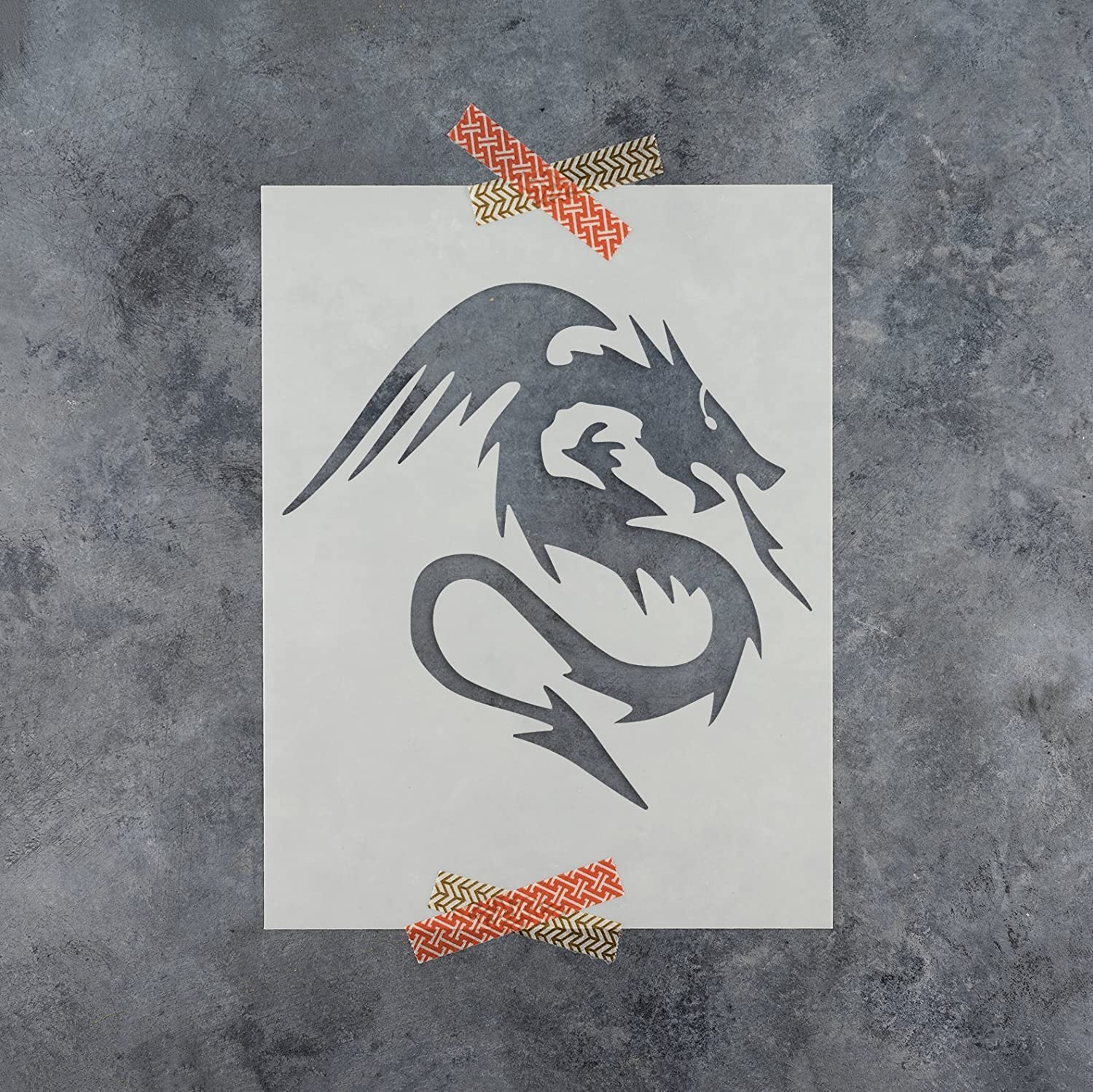 85 off dragon stencil template reusable stencil with multiple