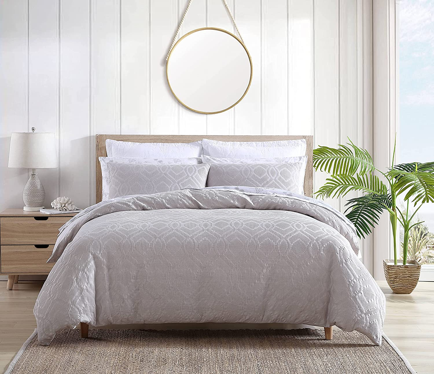 Tommy Bahama Waffle Max 81% OFF Collection Set Bedding Comforter Cotton Dedication