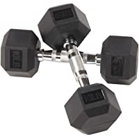 $46 » Sporzon! Rubber Encased Hex Dumbbell in Pairs or Singles