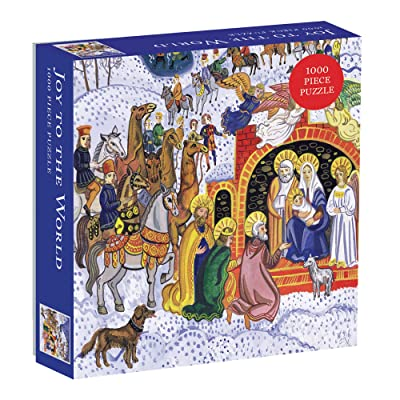 Galison Joy to The World 1000 Piece Jigsaw Puzzle for Adults, Holiday Puzzle for Families with Festive Theme: Galison: Toys & Games
