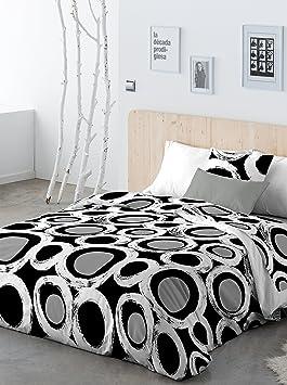 paduana linge de lit PADUANA Jeu de Housse de couette traits blanc/noir lit 90 (155 x  paduana linge de lit