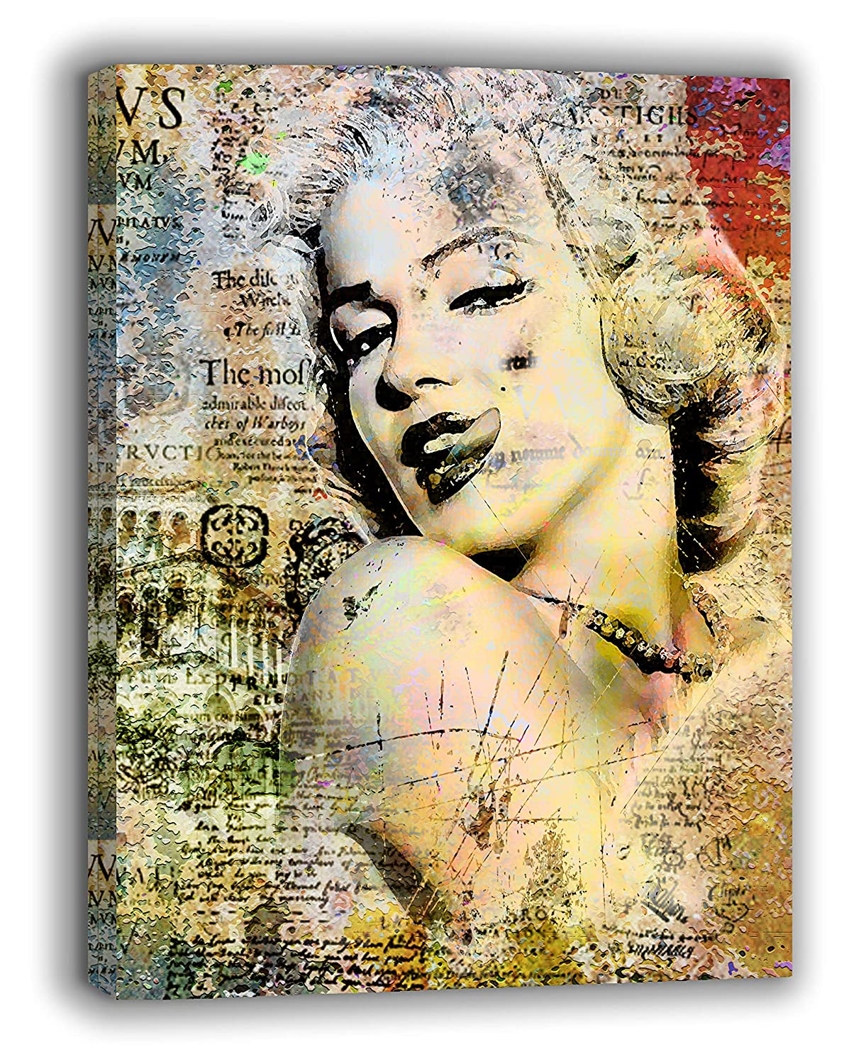 Amazon.com: Van Eyck Marilyn Monroe Painting Prints on Canvas Art ...