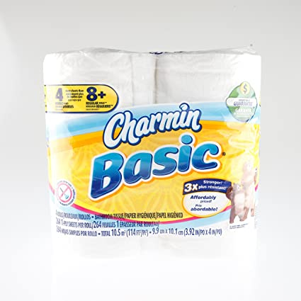 procter & gamble 50907 Charmin,  Double Roll Toilet Tissue , 1 Pack of 4